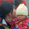 Woman with her baby in Sapa, Vietnam in January 2012
