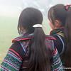 Girls in traditional dress in Sapa, Vietnam in January 2012