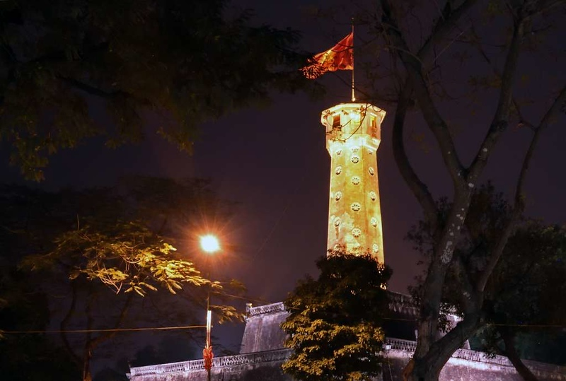 Flag tower, Hanoi citadel, 6 March 2018.  Built in 1812.