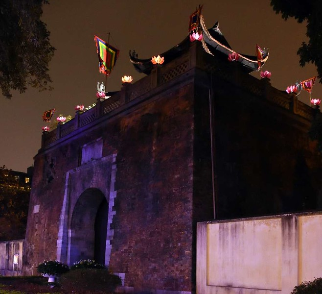 North gate, Hanoi citadel, 3 March 2018.  Built in 1805.
