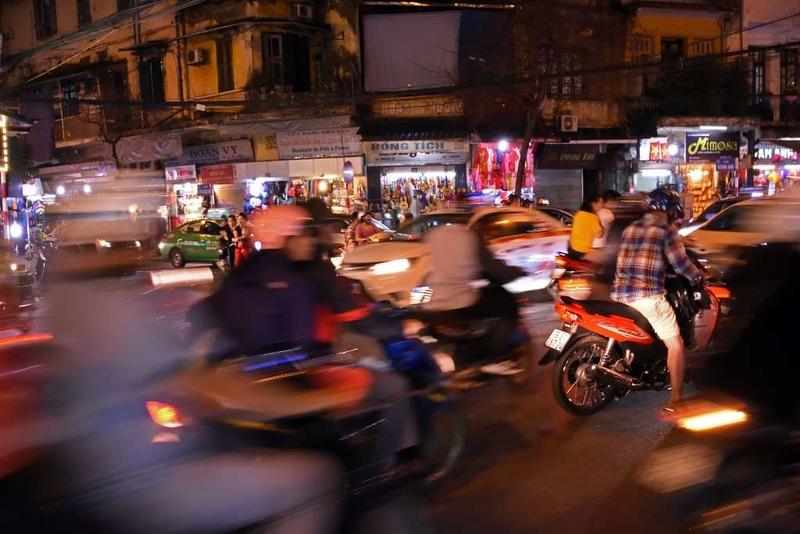 Road junction, Hanoi, 6 March 2018.