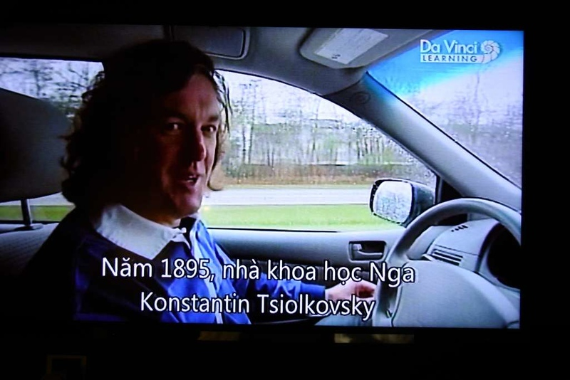 James May on telly, Hanoi, 6 March 2018.