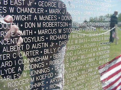 The Vietnam Wall Experience is a traveling, 3/4-scale replica of the Vietnam Veterans Memorial in Washington, D.C.