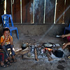 Kids in the kitchen. Hang Kia Village Vietnam