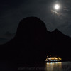 Full moon, Halong Bay, Vietnam