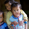 Three kids. Hang Kia Village Vietnam
