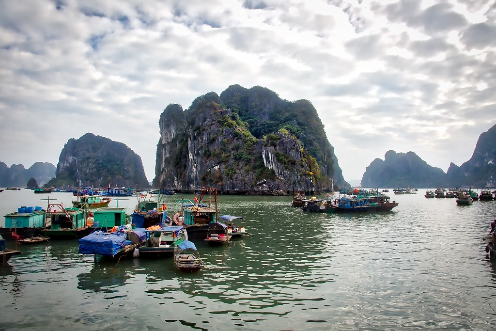 Ha Long - Boats Docked 0010