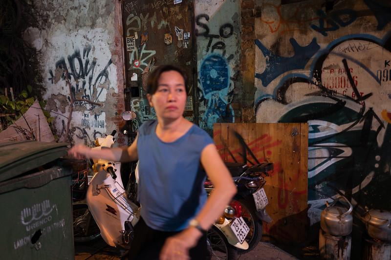Graffiti Decay. Hanoi, Vietnam
