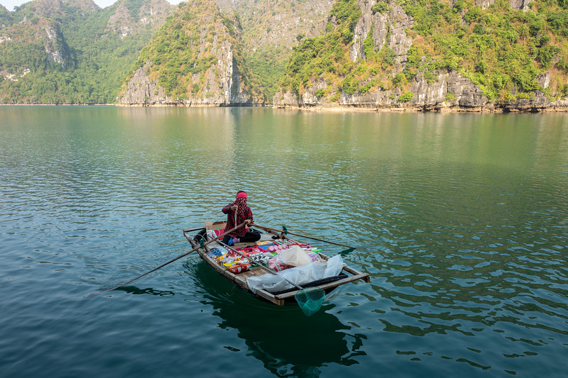 Floating sundries. Halong Bay, Vietnam