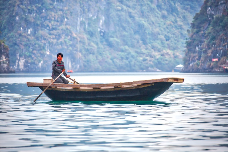 Halong Bay - Small Boat