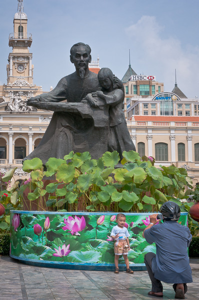Uncle Ho-  Ho Chi Minh Statue in front Saigon City Hall (Ho Chi Minh City)