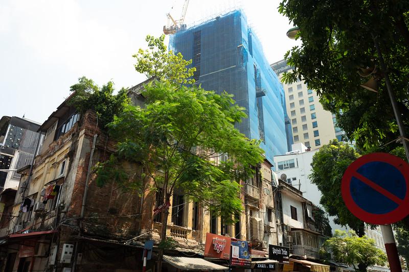 Old and new, Hanoi, Vietnam
