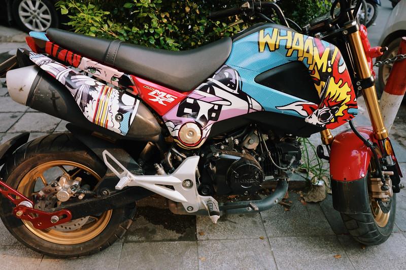 Whaam graphic cycle. Hanoi, Vietnam