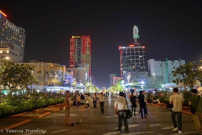 Saigon/ Ho Chi Min City at night