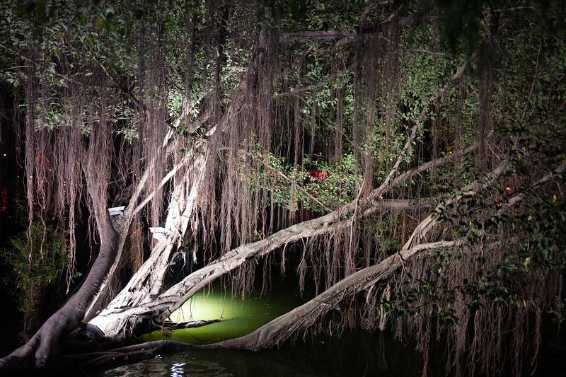 Hoan Kiem lake at night. Hanoi, Vietnam