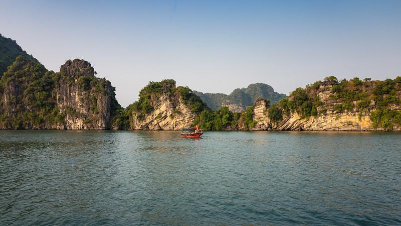 Fishing boat.  Halong Bay, Vietnam