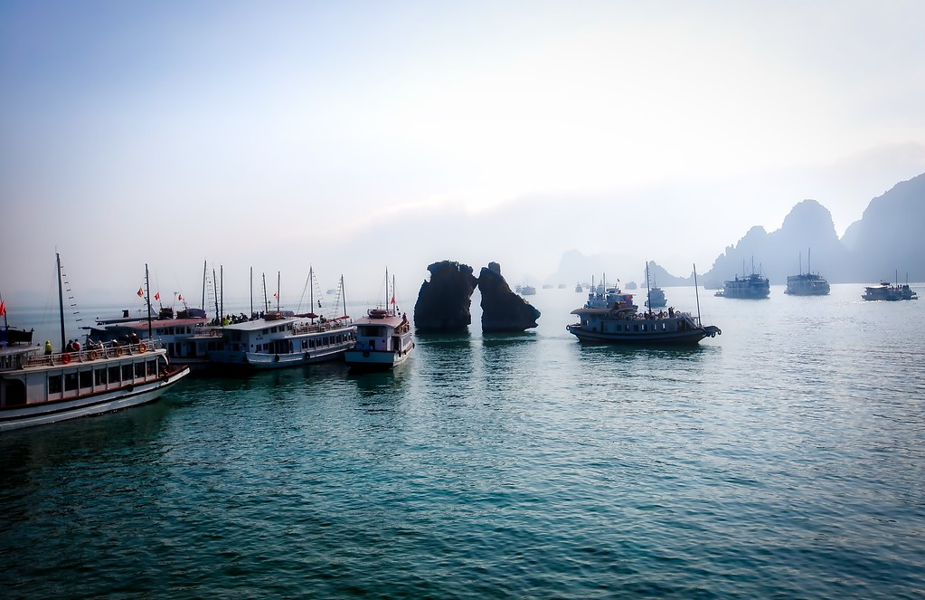 Halong Bay Kissing Rocks