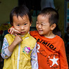 One afternoon we visited a tiny village and we all went off on our own to photograph it.  As I was walking down the street, I heard children singing.  I walked around the side of the building and a teacher was out in front waving me over.  Inside were the most adorable happy children!  They sang a couple of songs to me. Made my day.