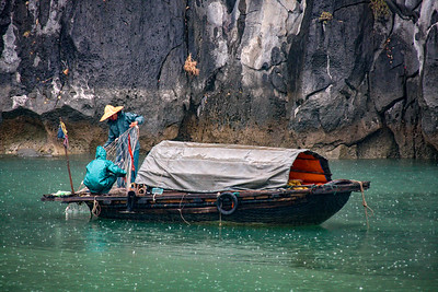 Fisherman in Halong Bay, Viet Nam