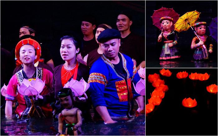 A water puppet show in Hanoi, Vietnam
