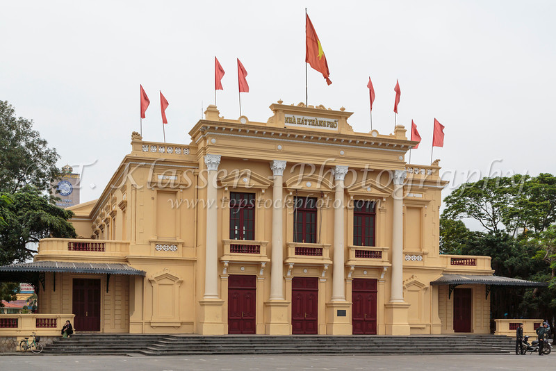 The Opera House in Haiphong, Vietnam, Asia.