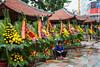 The flower market in Haiphong, Vietnam, Asia.