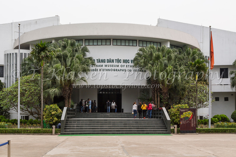 The entrance to the Museum of Ethnology in Hanoi, Vietnam, Asia.