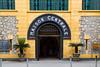 The entrance to the Hỏa Lò Prison, Hanoi Hilton in Hanoi, Vietnam, Asia.