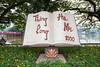 The Open Book monument in Hoan Kiem Lake park in Hanoi, Vietnam, Asia.