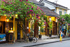 Shops and restaurants in Hoi An, Vietnam, Asia.