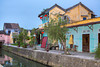 Colorful Vietnamese architecture along the canal in Hoi An, Vietnam, Asia.