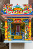 A small buddhist shrine at the entrance to the The  Dong Thuyen Pagoda and Monastery in Hue, Vietnam, Asia.