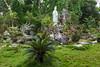 A buddhist shrine and gardens at the  Dong Thuyen Pagoda and Monastery in Hue, Vietnam, Asia.