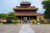 Building architecture in the historic Old Imperial City in Hue, Vietnam, Asia.