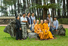 A group picture at the Thien Mu Pagoda near Hue, Vietnam, Asia.