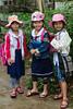 Young school children in Kim Bong Village near Hoi An, Vietnam, Asia.