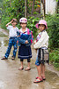 Young school children in Kim Bong Village near Hoi An, Vietnam, Asia.