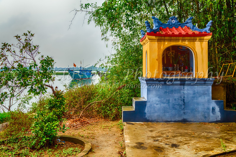The boat dock at Kim Bong Village near Hoi An, Vietnam, Asia.