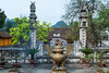 The Thien Tru (Heaven Kitchen) Pagoda, part of the Perfume Pagoda complex in the Huong Tich mountains near Hanoi, Vietnam, Asia.