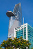 The tower of the Bitexco Financial Center in Saigon, Ho Chi MInh City, Vietnam, Asia.