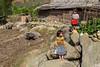 Children playing in the village of Lao Chai near Sapa, Vietnam, Asia.