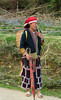 A girl of the Red Dao hilltribe in Ta Phin Village near Sapa, Vietnam, Asia.
