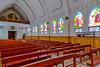 The interior of the Catholic church in Sapa, Vietnam, Asia.