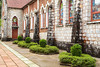 The exterior facade of the Nam Duc Tin Catholic Church in Sapa, Vietnam, Asia.