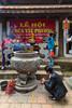 A buddhist shrine at the Tay Phuong Pagoda near Hanoi, Vietnam, Asia.
