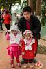 Children at the Thay Pagoda (Masters Pagoda) located at the foot of Sai Son mountain near Hanoi, Vietnam, Asia.