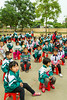 The Hoang Tan Primary school children during outdoor exercises near Hanoi, Vietnam, Asia.