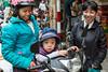 A common street scene in Hanoi, Vietnam, Asia.