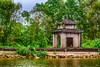 A small Buddhist shrine along the Yen River to the Perfume Pagoda near Hanoi, Vietnam, Asia.