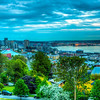 This is a 4x3 image HDR pano taken from Kerry Park taken before the light faded too much.  The original images looked a bit drab, but I boosted the saturation and contrast which gave it a little more life.